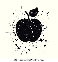 grunge, äpple