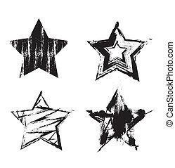 grunge, étoiles