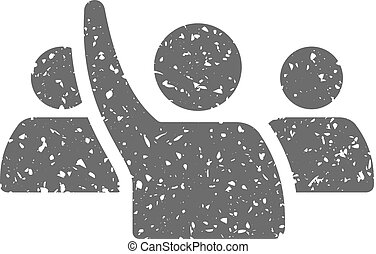 grunge, ícone, -, aumento, mão