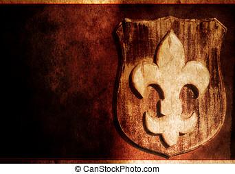 grunge , ίριδα , - , άνθινος , σύμβολο