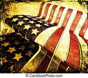 grunge , αστροποίκιλτος τρίχρωμος σημαία των ηνωμένων...