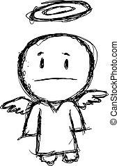 grunge , γελοιογραφία , άγγελος
