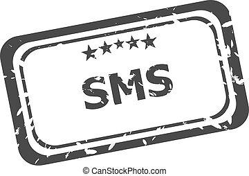 grunge , γραμματόσημο , sms , φόντο , απομονωμένος , λάστιχο , άσπρο