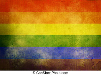 grunge , ουράνιο τόξο , σημαία