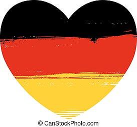 grunge , σημαία , από , γερμανία