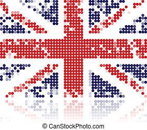 grunge , σημαία , από , ηνωμένο βασίλειο