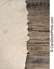 grunge , χαρτί , επάνω , ξύλινος , wall.