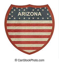 grunge, 亞利桑那, 美國人, 州際的公路, 簽署