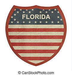 grunge, 佛羅里達, 美國人, 州際的公路, 簽署
