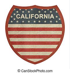 grunge, 加利福尼亞, 美國人, 州際的公路, 簽署