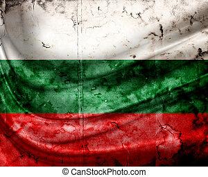 grunge, 旗, 保加利亞