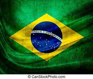 grunge, 旗, 巴西