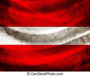 grunge, 旗, 拉脫維亞