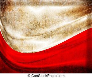 grunge, 旗, 波蘭