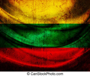 grunge, 旗, 立陶宛