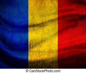 grunge, 旗, 羅馬尼亞
