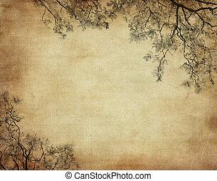 grunge, 植物, 背景, 由于, 空間, 為, 正文, 或者, 圖像