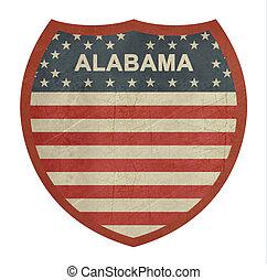grunge, 阿拉巴馬, 美國人, 州際的公路, 簽署