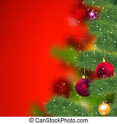 grunge, 크리스마스, 배경., eps, 8