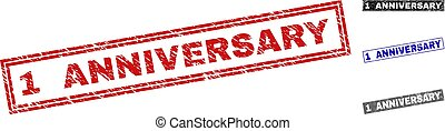 Grunge 1 ANNIVERSARY Scratched Rectangle Watermarks