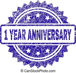 Grunge 1 YEAR ANNIVERSARY Stamp Seal