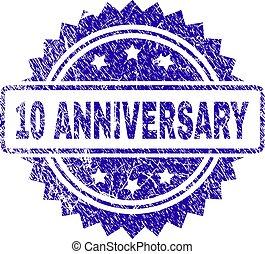 Grunge 10 ANNIVERSARY Stamp Seal