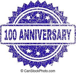Grunge 100 ANNIVERSARY Stamp Seal