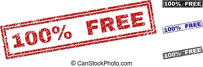 Grunge 100% FREE Scratched Rectangle Stamps