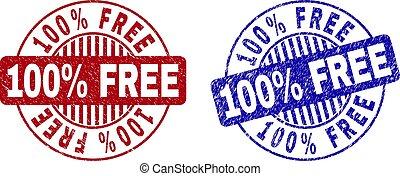Grunge 100% FREE Textured Round Stamp Seals