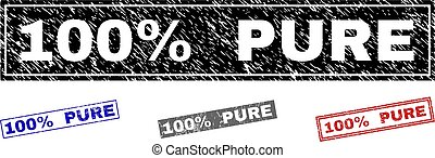 Grunge 100% PURE Textured Rectangle Stamp Seals