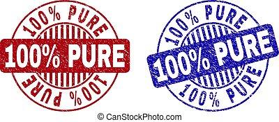 Grunge 100% PURE Textured Round Stamp Seals