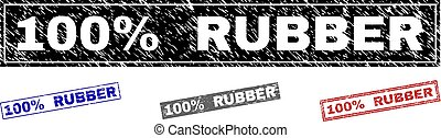 Grunge 100% RUBBER Textured Rectangle Stamp Seals