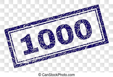 Grunge 1000 Rectangle Stamp