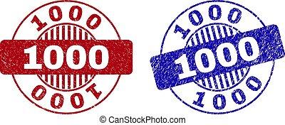 Grunge 1000 Textured Round Stamps