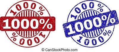 Grunge 1000% Textured Round Watermarks