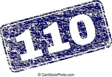 Grunge 110 Framed Rounded Rectangle Stamp