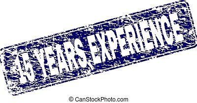 Grunge 15 YEARS EXPERIENCE Framed Rounded Rectangle Stamp