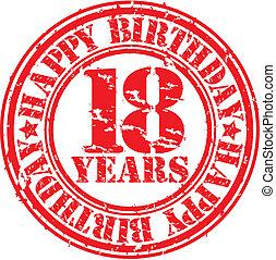 Grunge 18 years happy birthday rubb