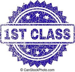 Grunge 1ST CLASS Stamp Seal