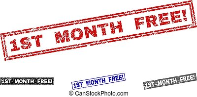 Grunge 1ST MONTH FREE! Textured Rectangle Watermarks