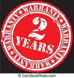 Grunge 2 years warranty rubber stam