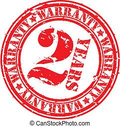 Grunge 2 years warranty rubber stam