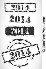 Grunge 2014 New Year Background
