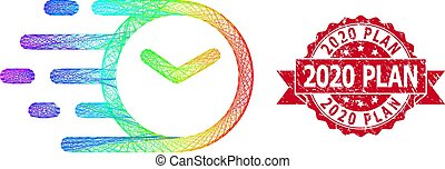Grunge 2020 Plan Seal and Spectrum Linear Clock