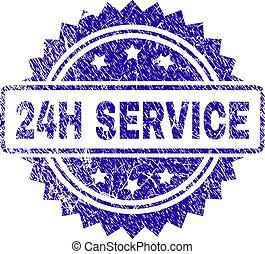 Grunge 24H SERVICE Stamp Seal