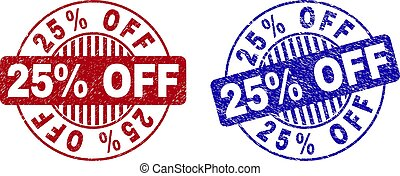Grunge 25% OFF Textured Round Watermarks
