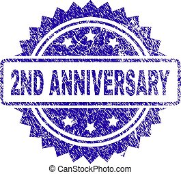 Grunge 2ND ANNIVERSARY Stamp Seal