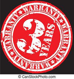 Grunge 3 years warranty rubber stam