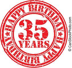 Grunge 35 years happy birthday rubb