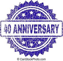 Grunge 40 ANNIVERSARY Stamp Seal